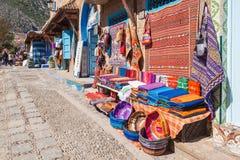传统摩洛哥纺织品 库存图片