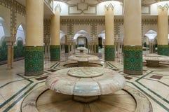 传统摩洛哥浴的内部 免版税库存图片