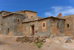 传统摩洛哥巴巴里人村庄房子 免版税图库摄影