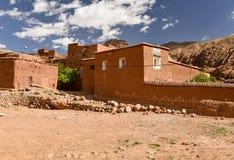 传统摩洛哥巴巴里人村庄 免版税库存照片