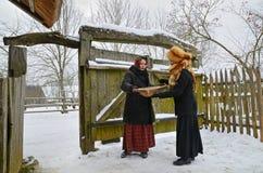 传统斯拉夫民族的占卜 库存照片