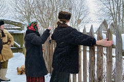 传统斯拉夫民族的占卜 免版税库存照片