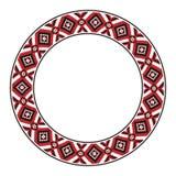 传统斯拉夫的圆的刺绣 库存图片