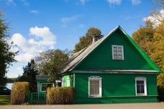 传统斯拉夫语和波儿地克的房子,立陶宛 免版税图库摄影