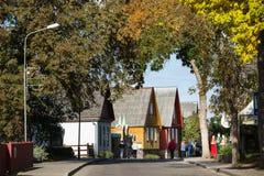 传统斯拉夫语和波儿地克的房子,立陶宛 库存图片