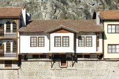 传统无背长椅议院在阿马西亚,土耳其 库存照片