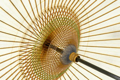 传统日文报纸伞 免版税库存图片