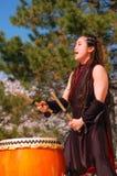 传统日本人Taiko打鼓 库存照片