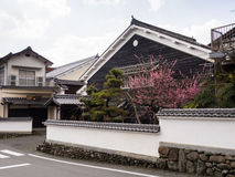 传统日本房子在Uchiko,日本 库存照片