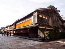 传统日本木房子 免版税库存照片