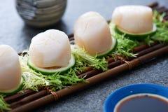 传统日本海鲜 免版税库存照片
