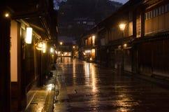传统日本的街道 免版税库存照片