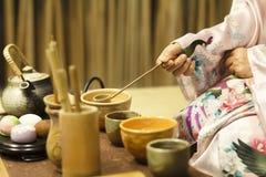 传统日本茶道 库存照片