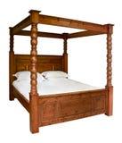 传统有四根帐杆的卧床床 免版税库存图片