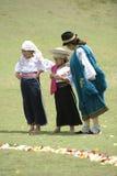 传统服装的印地安妇女 库存图片