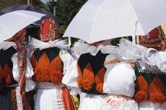 传统服装的妇女 免版税图库摄影