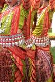 传统服装的舞蹈家 库存照片