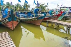 传统木小船 库存图片
