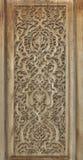 传统木雕刻,乌兹别克斯坦 免版税库存图片