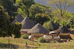 传统村庄在南非 免版税库存图片