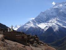 传统村庄在尼泊尔, anapurna区域 免版税库存照片