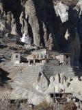 传统村庄在尼泊尔, anapurna区域 免版税图库摄影