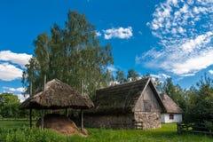 传统村庄在波兰 免版税库存照片