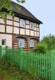 传统村庄房子从18世纪 免版税库存图片