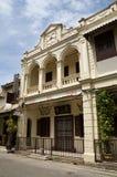 1928传统结构大厦, Melaka,马来西亚门面  免版税图库摄影