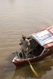 传统河船沙捞越,马来西亚 免版税库存图片
