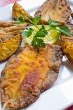 传统油煎的鲱鱼 免版税库存照片