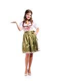 传统巴法力亚礼服的,演播室射击, isol美丽的妇女 库存图片