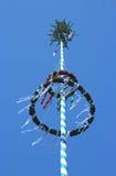 传统巴法力亚5月树,五月柱 免版税库存图片