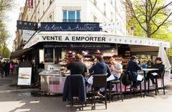 传统法国牡蛎酒吧,巴黎,法国 库存照片