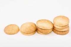传统法国的蛋白杏仁饼干 库存照片