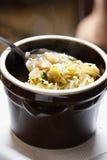 传统波兰圆白菜汤 库存照片