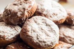 传统波兰油炸圈饼叫pÄ… czki 免版税库存图片