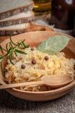 传统波兰豌豆用圆白菜 图库摄影