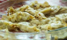 传统波兰饺子叫pierogi 库存图片