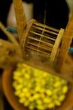 传统泰国丝绸短管轴 免版税库存照片
