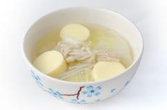 传统泰国味淡的汤 库存图片