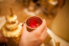 传统泰国婚礼 免版税库存图片
