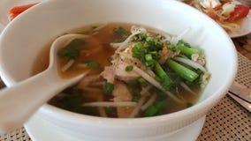 传统泰国汤面 免版税库存图片