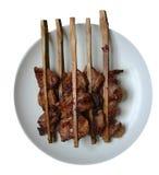 传统泰国烤猪肉 库存图片