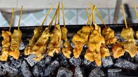 传统泰国牛排烤猪肉 库存图片