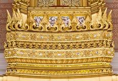 传统泰国建筑学的元素 免版税图库摄影