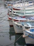 传统渔船在卡西斯港口法国的南部的 图库摄影