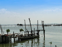 传统渔船在宋卡 免版税库存图片