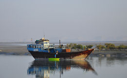 传统渔船 免版税图库摄影