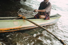 传统渔船 库存照片
